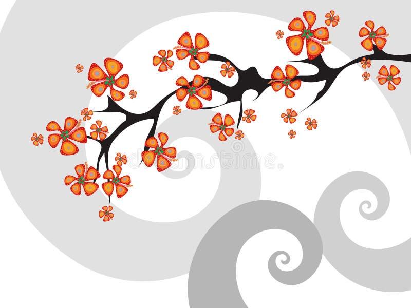 сплавливание цветка тропическое иллюстрация вектора