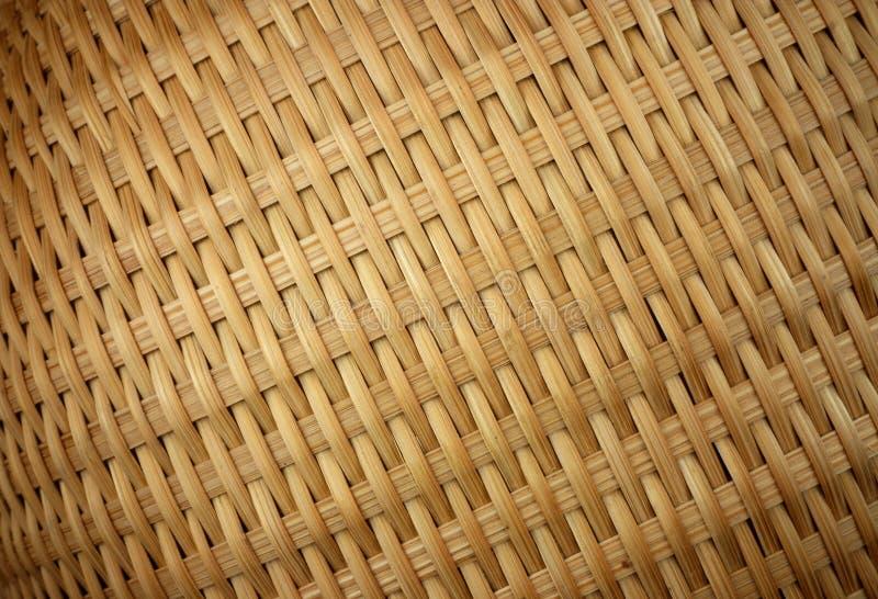 сплетенная текстура крупного плана корзины стоковое фото rf