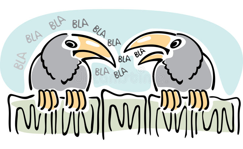 сплетня ворон говоря 2 бесплатная иллюстрация