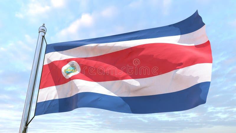 Сплетя флаг страны Коста-Рика стоковые фотографии rf