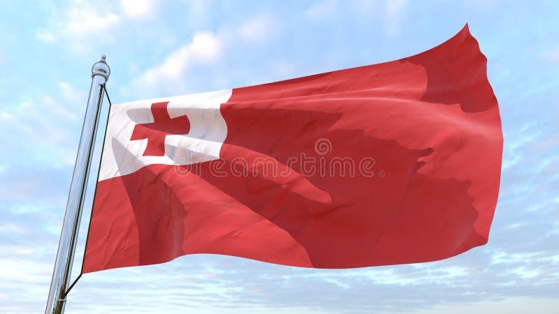 Сплетя флаг страны Тонги иллюстрация штока