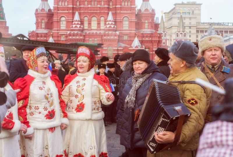 Спойте губную гармонику в красной площади стоковое фото
