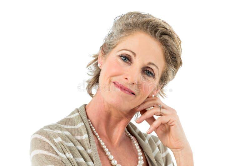 Спокойная зрелая женщина стоковое фото