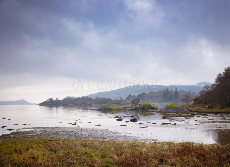 Спокойное западное озеро Tarbert стоковое изображение