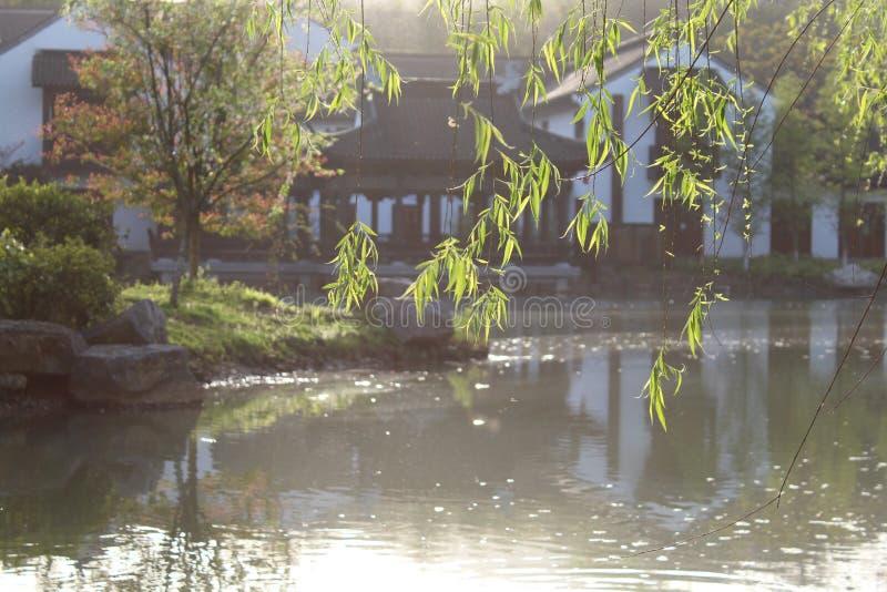 Спокойное утро в южном реке города СУЧЖОУ Китая стоковая фотография
