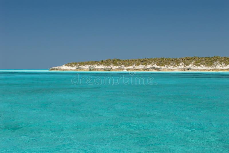 Спокойные воды острова Багам кота стоковые фотографии rf