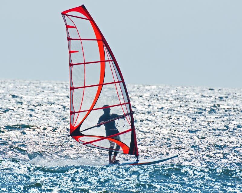 Спокойный ветер занимаясь серфингом стоковые изображения rf
