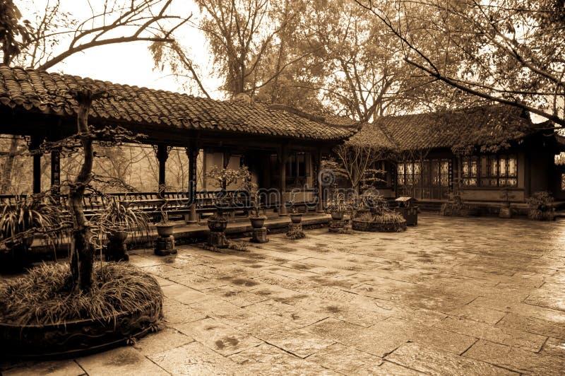 Спокойный двор стоковая фотография
