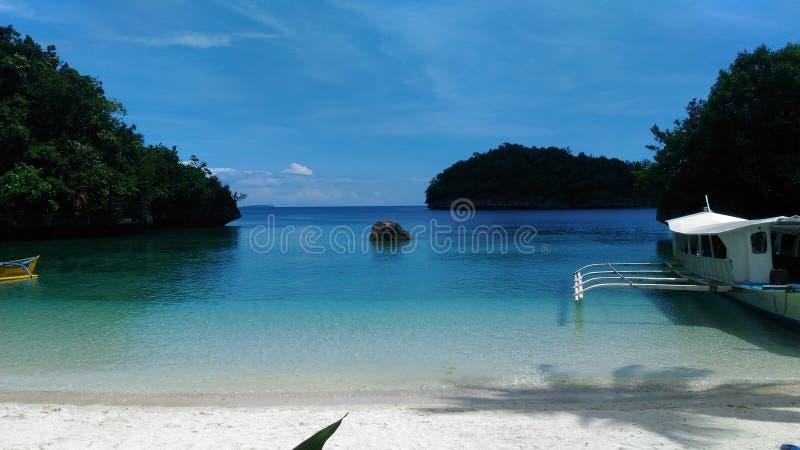 Спокойный и мирный океан стоковая фотография rf