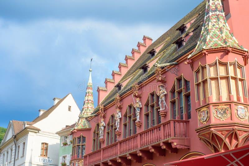 Спокойный Фрайбург, Германия, центральная площадь исторических зданий стоковые изображения