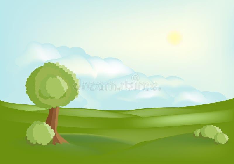 спокойствие ландшафта иллюстрация вектора