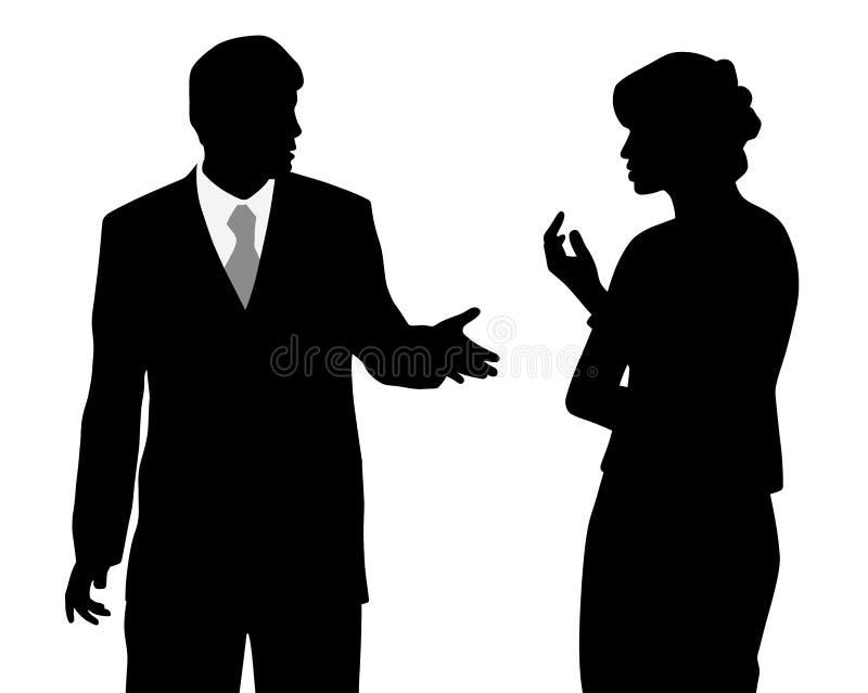 Спорить бизнесмена и женщины бесплатная иллюстрация