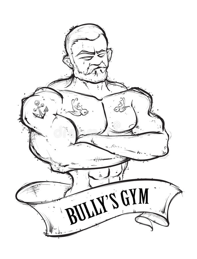 Спортзал Bullys иллюстрация вектора
