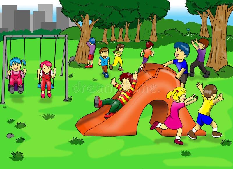 спортивная площадка иллюстрация вектора