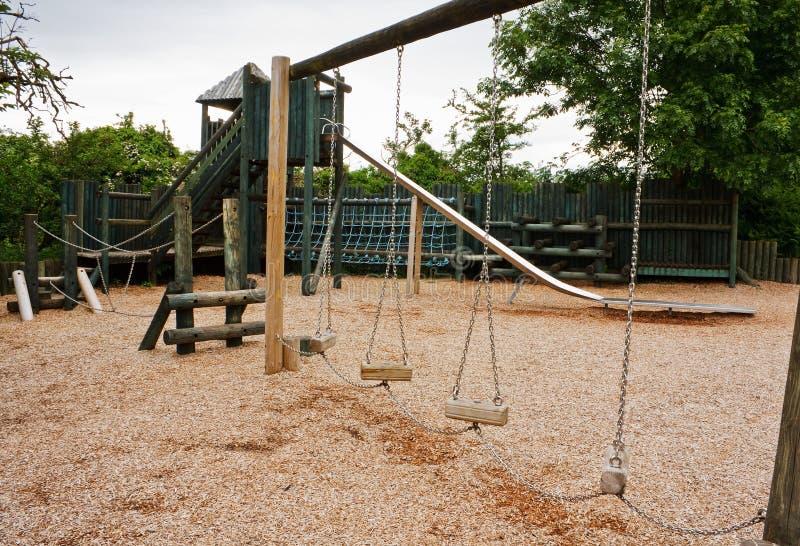 Спортивная площадка приключения Childs стоковое изображение