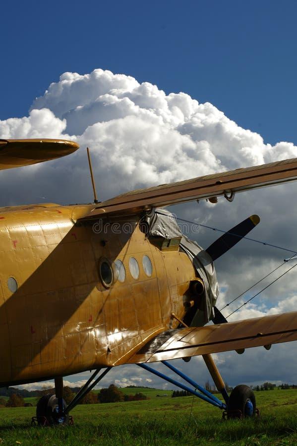 Спортивные воздушные судн 6 самолет-биплана стоковое изображение