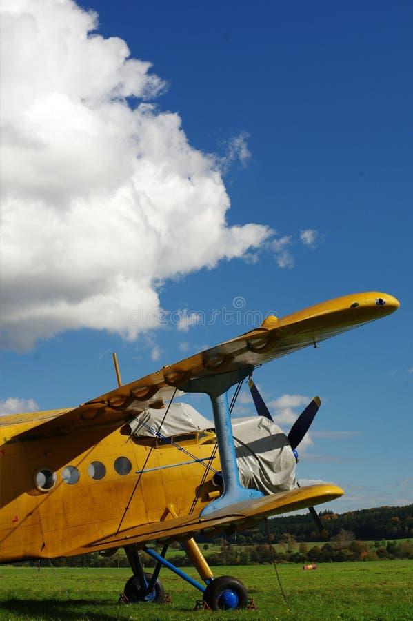 Спортивные воздушные судн 5 самолет-биплана стоковые фотографии rf