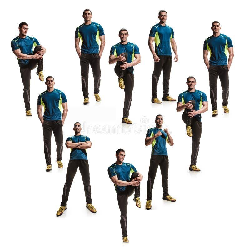 Спортсмены в форме сердца стоковое изображение rf