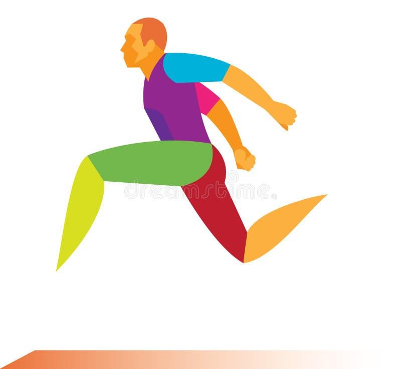 Спортсмен длинный шлямбур бесплатная иллюстрация