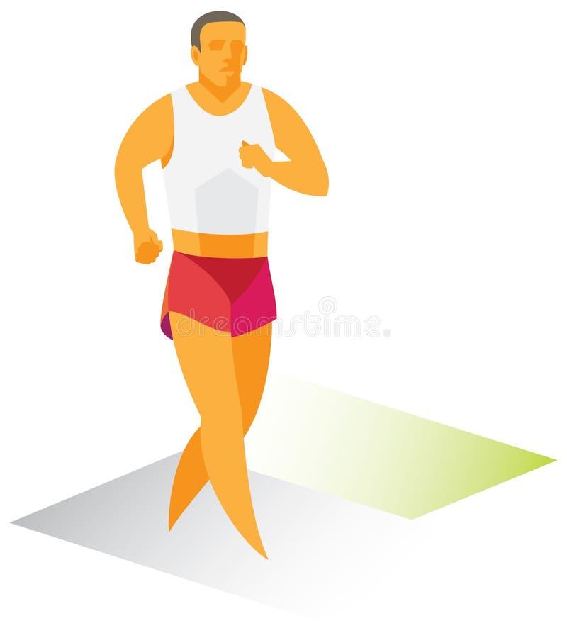 Спортсмен международный ходок гонки бесплатная иллюстрация
