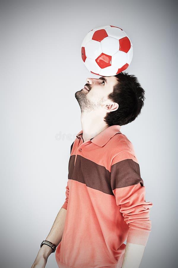спортсмен шарика стоковое фото rf