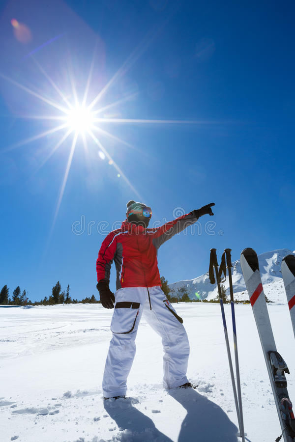 Спортсмен Snowboarder стоковое фото