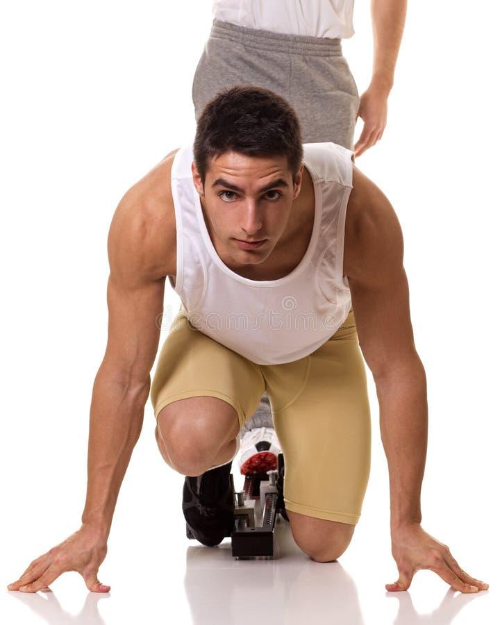 Спортсмен Sprinting стоковая фотография