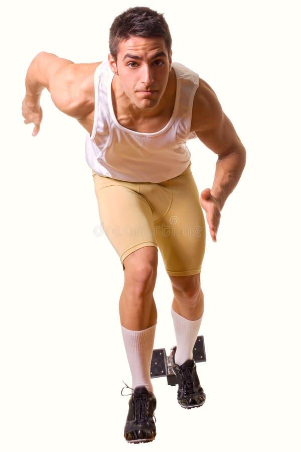 Спортсмен Sprinting стоковые изображения