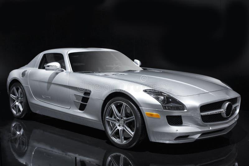 спорты автомобиля серебряные стоковое фото rf