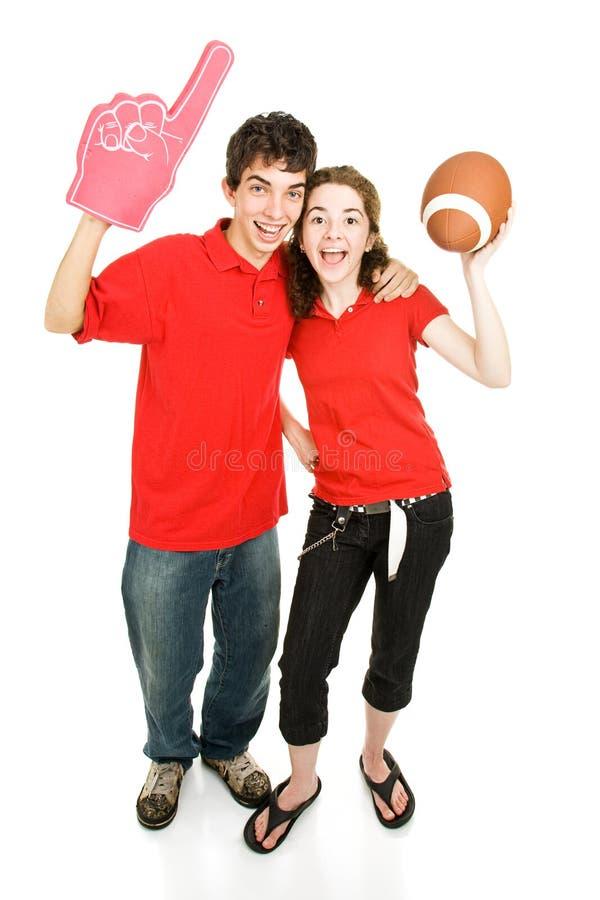 спорты вентиляторов предназначенные для подростков стоковая фотография