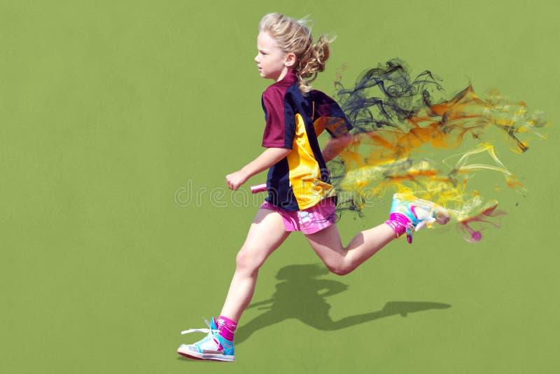 спорты гонки девушки стоковые фотографии rf