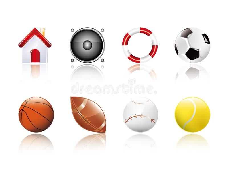 спорты иконы иллюстрация штока