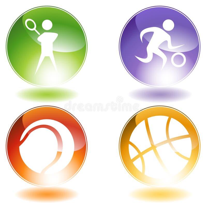 спорты икон иллюстрация вектора