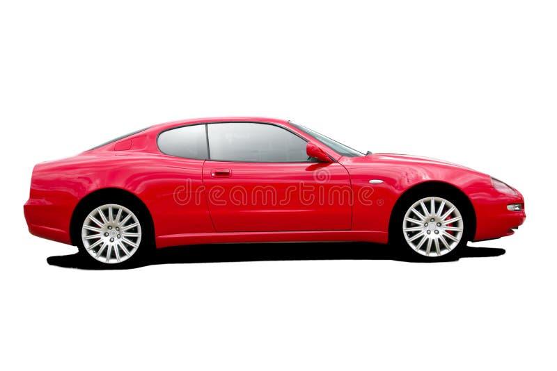 спорты красного цвета автомобиля стоковое фото rf