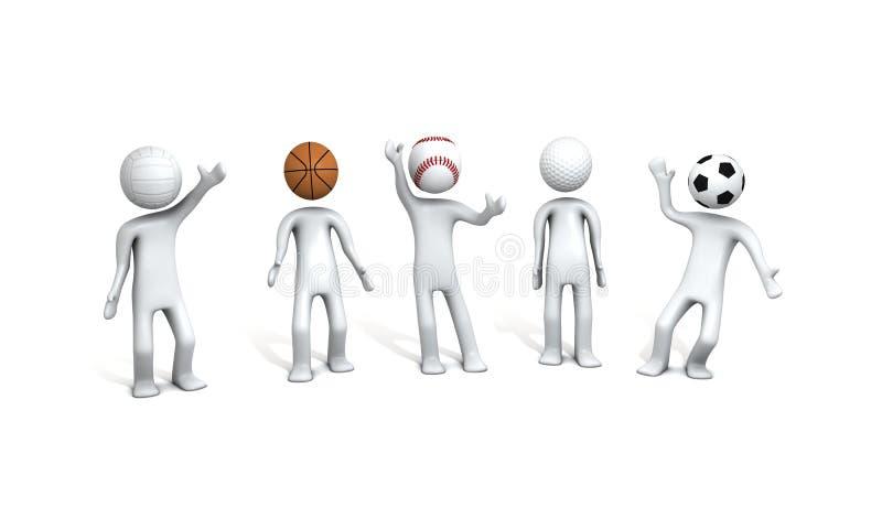 спорты людей иллюстраций иллюстрация вектора