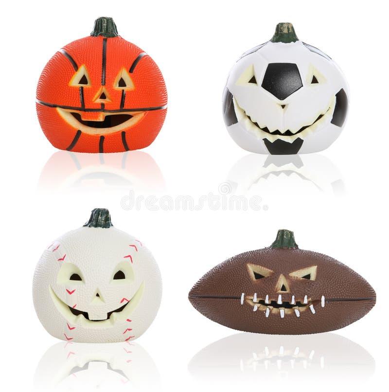 спорты тыкв halloween стоковое фото rf