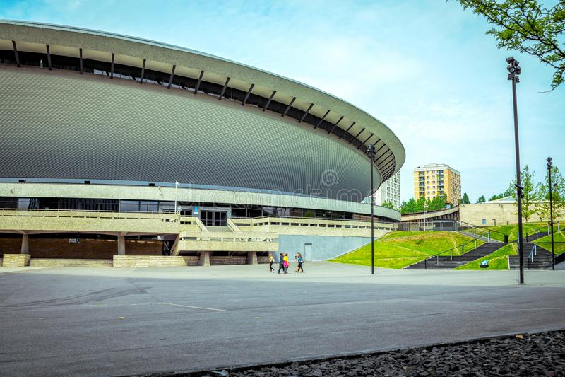 Спорт †Spodek «и концертный зал в Катовице стоковые изображения