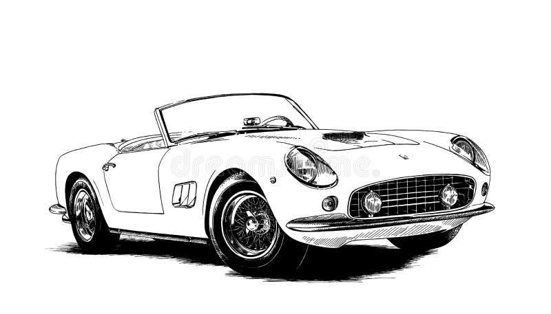 спорт автомобиля ретро бесплатная иллюстрация