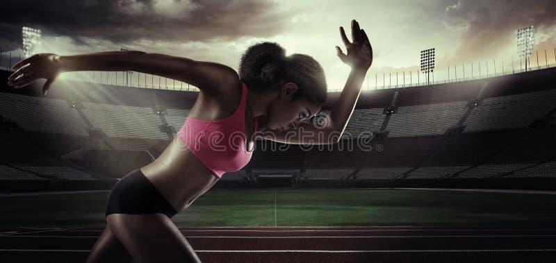 Спорт бегунок стоковые изображения rf