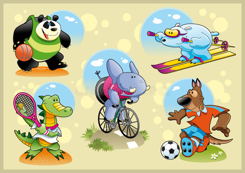 спорт животных иллюстрация вектора