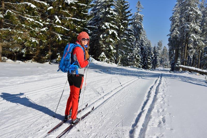 Спорт зимы в горе в Восточной Европе, Польше стоковое фото