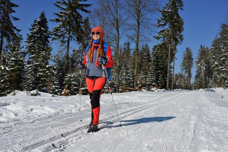 Спорт зимы в горе в Восточной Европе, Польше стоковые фотографии rf