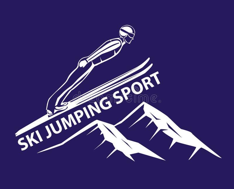 Спорт зимы прыжков с трамплина иллюстрация штока