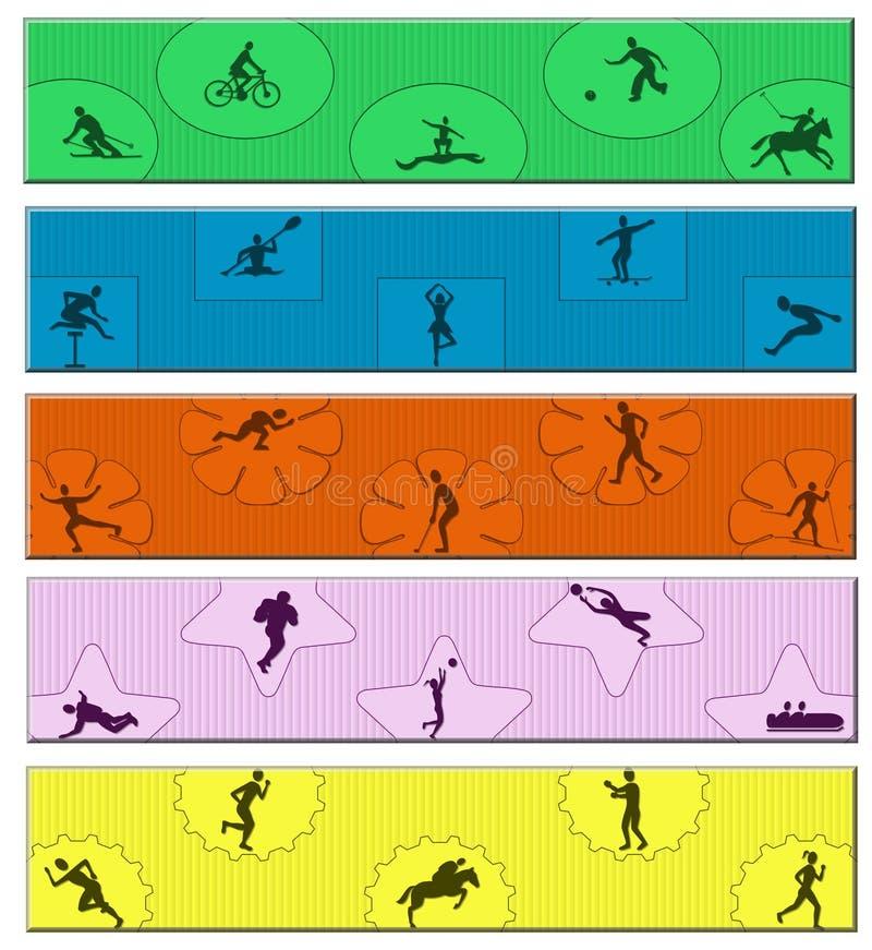 Спорт знамени стоковые изображения