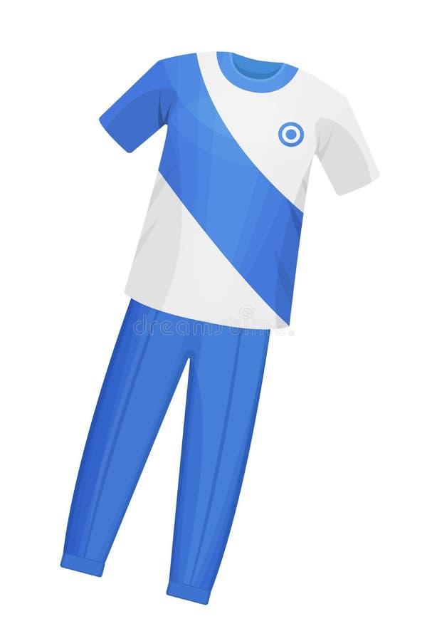 Спорт играя, тренируя одежды для сверчка, равномерная футболка и брюки иллюстрация вектора
