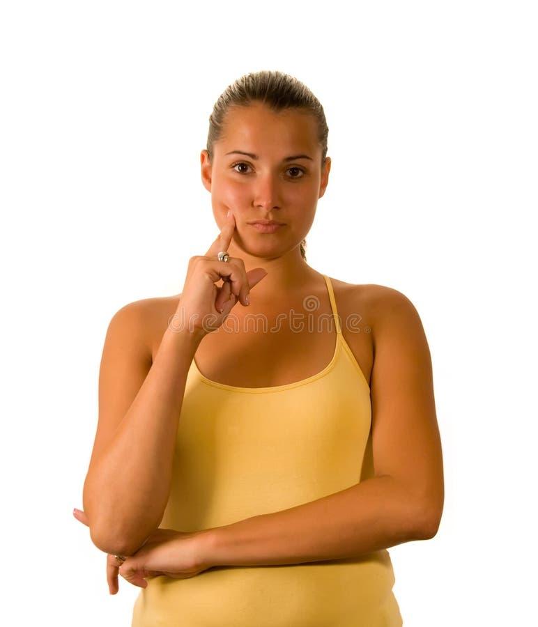 спорт изолированный девушкой стоковые изображения rf