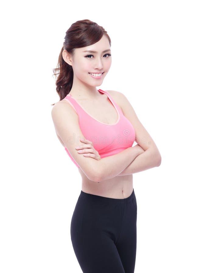 спорт изолированный девушкой стоковое изображение