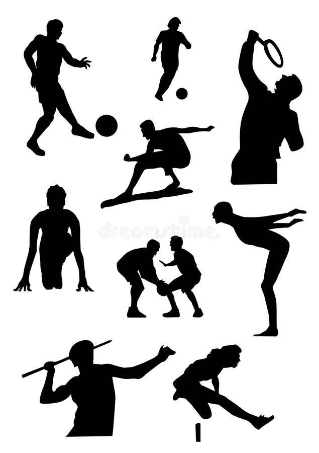 спорт иконы иллюстрация вектора