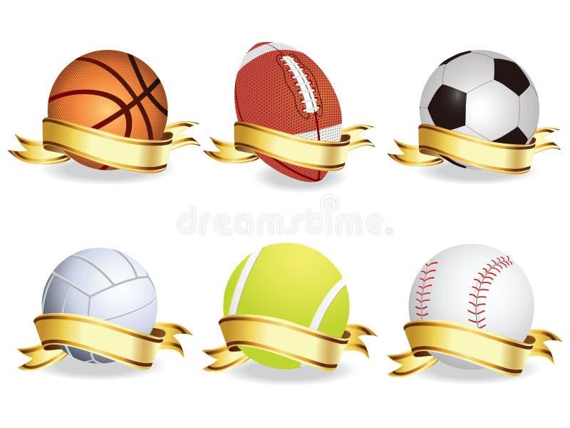спорт конструкции шариков установленный вы иллюстрация вектора