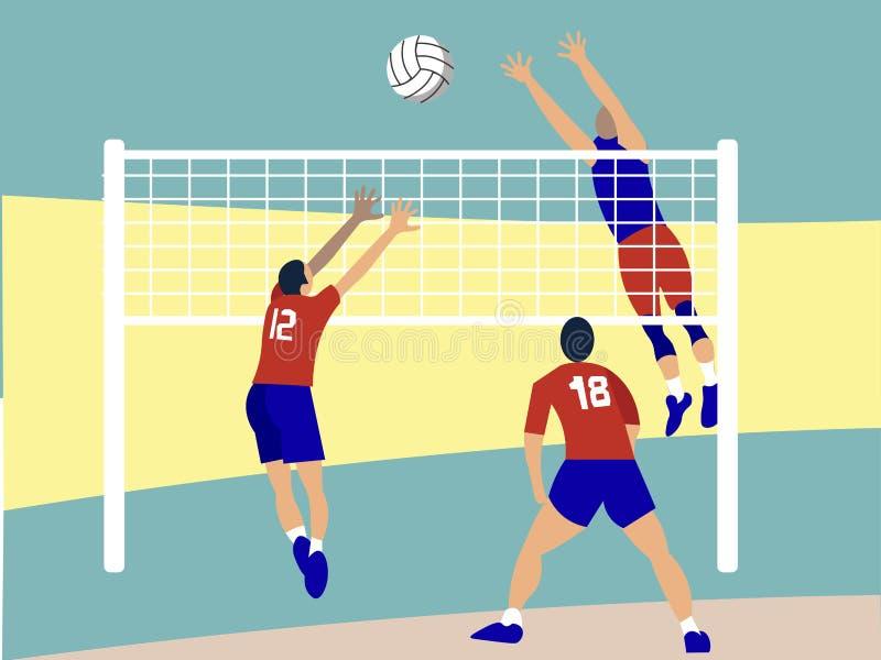 Спорт контакта, волейбол r иллюстрация штока